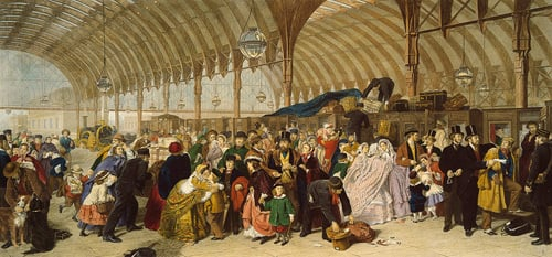 The Railway Station by William Powell Frith