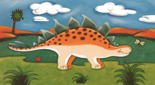 Steggy the Stegosaurus by Sophie Harding