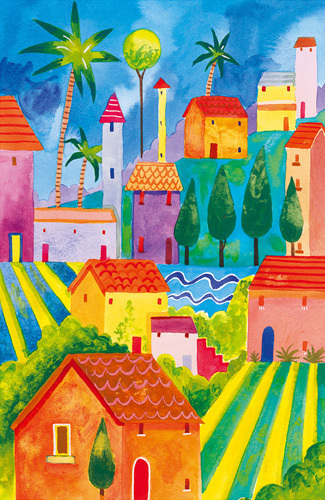 Hill Town II by Sophie Harding