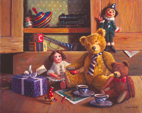 Ted and friends IV by Raymond Campbell