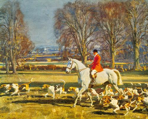 A November Morning by Sir Alfred Munnings