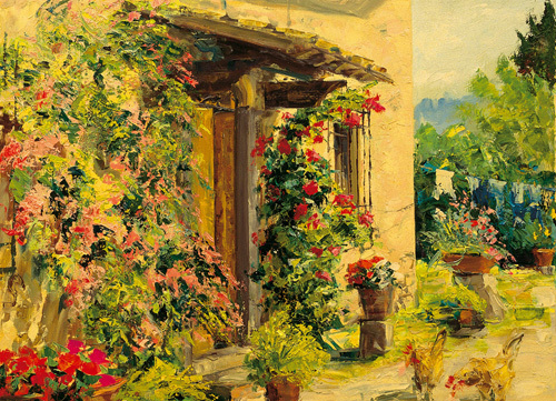 Tuscan courtyard by Gordon Breckenridge