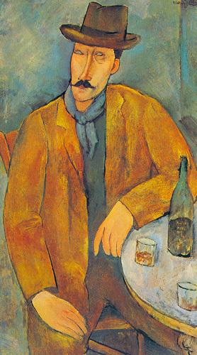 Man with a wine glass by Amedeo Modigliani