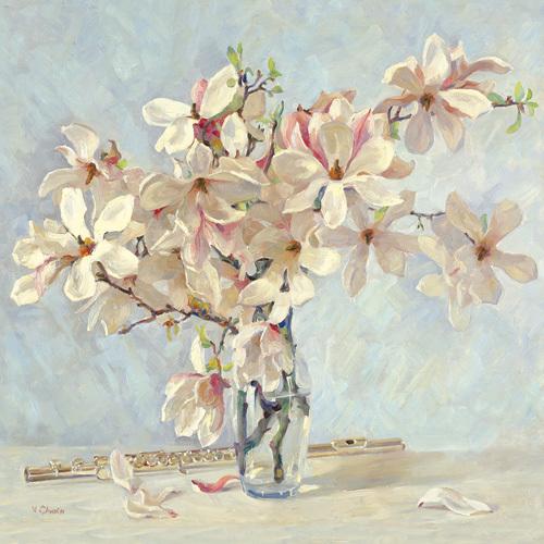 Magnolias by Valeriy Chuikov
