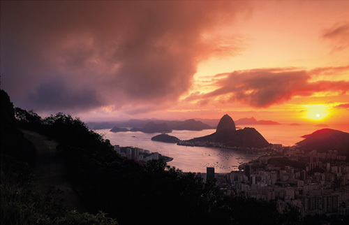 Sunset in Rio by Bent Rej
