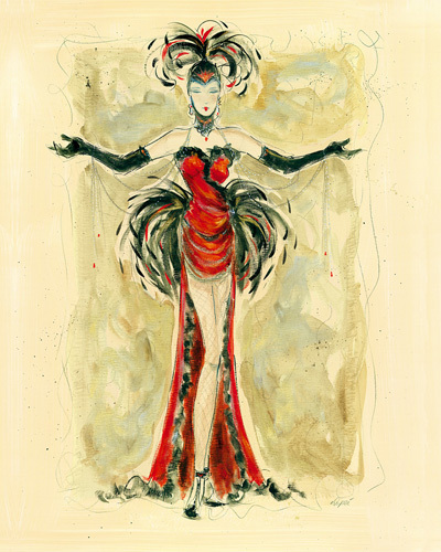 Lady Burlesque I by Karen Dupré