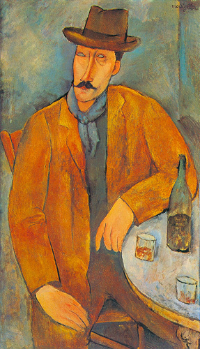 Man With a Wine Glass by Amedeo Modigliani