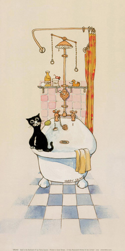 Basil in the bathroom IV by Harry Caunce