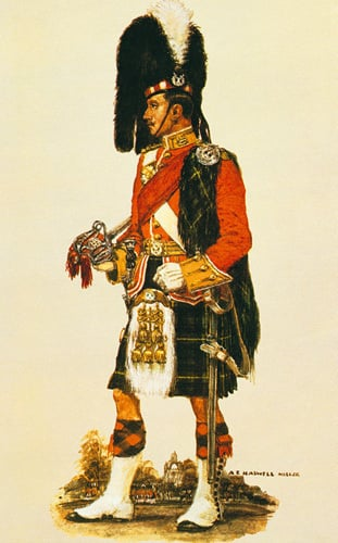 The Gordon Highlanders by A.E. Haswell Miller