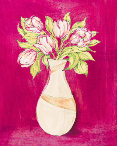 Les Fleurs Rose I by Nicola Corrigan