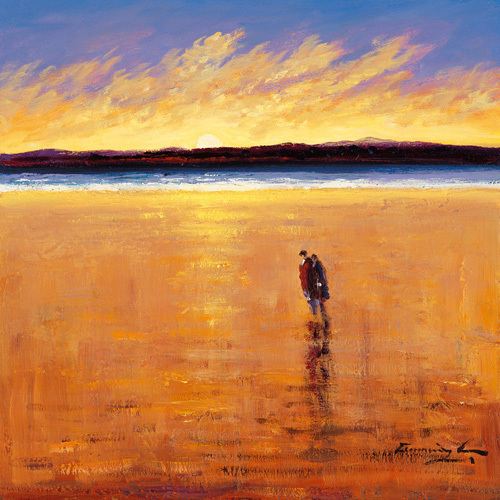 A quiet moment, Port Stewart Stand by William Cunningham