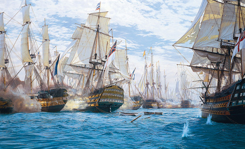 Battle of Trafalgar by Steven Dews