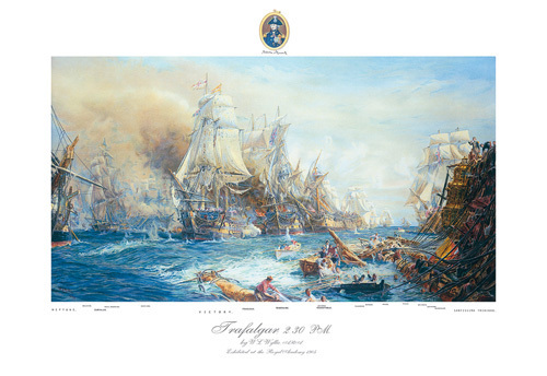 Battle of Trafalgar at 2.30pm by William Lionel Wyllie