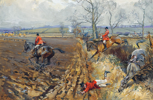 The Duke of Rutland's Hounds by Lionel Edwards