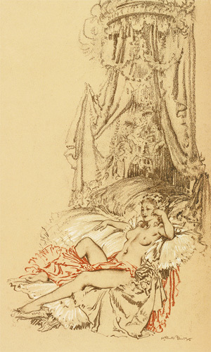 Madame du Barry as a Reigning Idol by Sir William Russell Flint