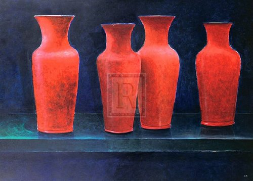 Red Pots by Lincoln Seligman