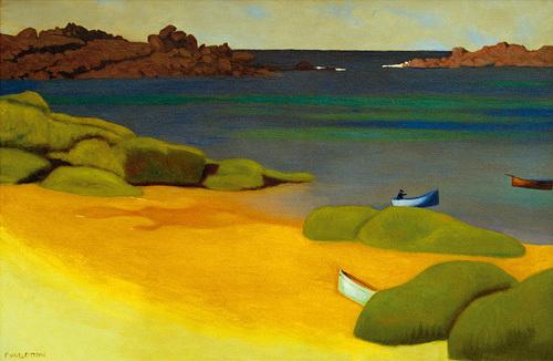 The Bay of Tregastel by Felix Vallotton