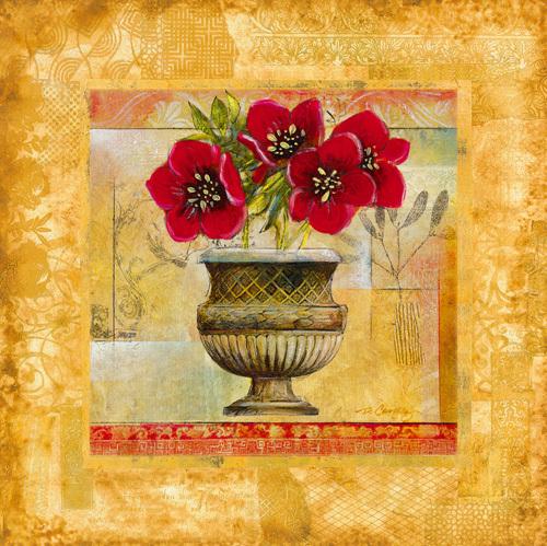 Rojo Botanical V by Dennis Carney