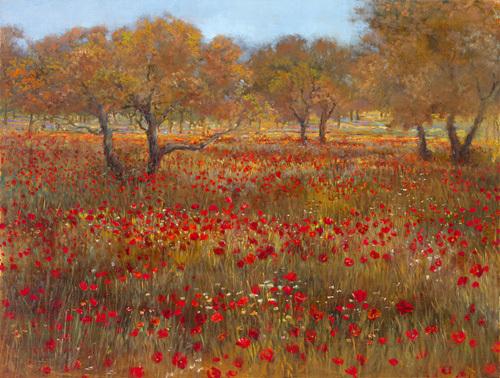 Poppy fields in red by Longo