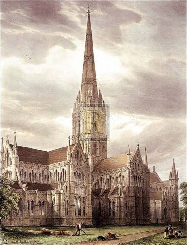Salisbury Cathedral by Gustave Simoneau