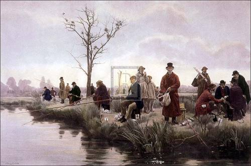 A pegged-down fishing match by Walter Dendy Sadler