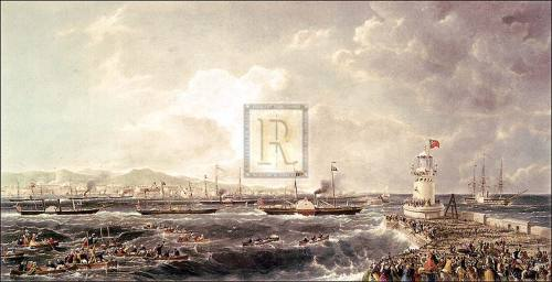 Departure of Queen and Royal Squadron by Anonymous