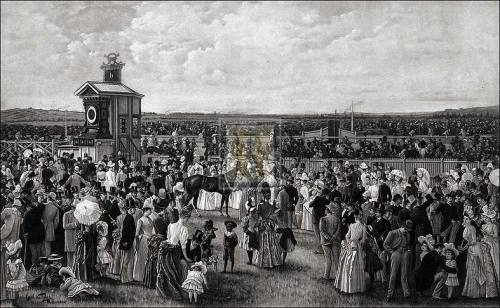 The derby day at Flemington by Carl Kahler