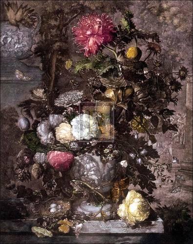 Flower Piece by Jan Van Huysum