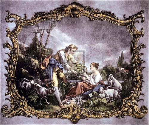 The bird-cage by Francois Boucher