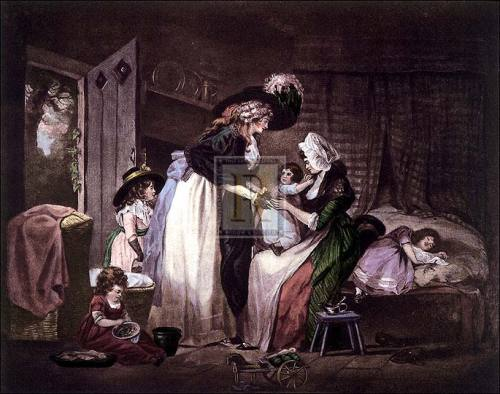 A visit to the child at nurse (large) by George Morland