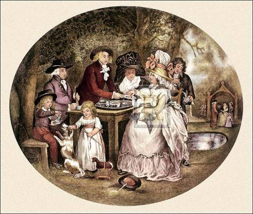 A tea garden (large) by George Morland