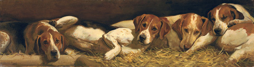 Foxhounds at Rest by Charles Church