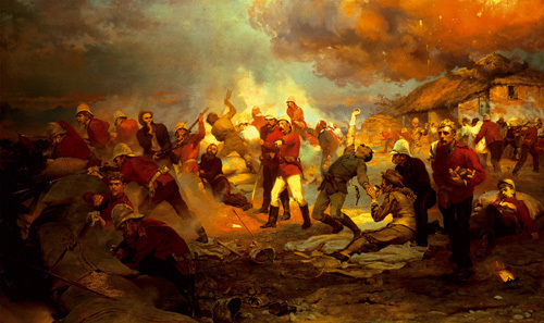 The Defence Of Rorke'S Drift by Lady Elizabeth Butler