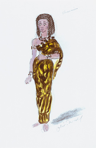 Designs For Cleopatra IV by Oliver Messel