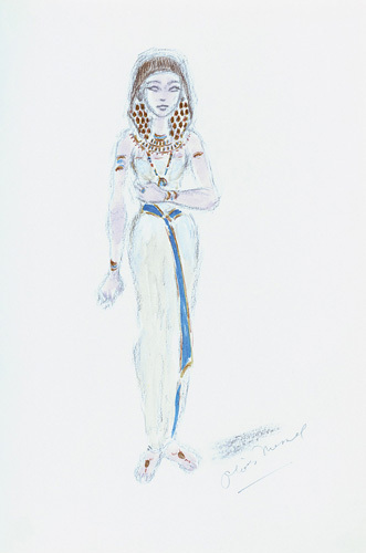 Designs For Cleopatra XX by Oliver Messel