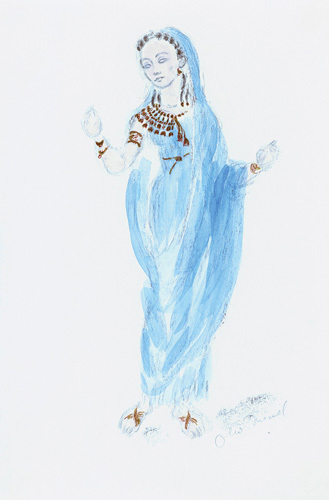 Designs For Cleopatra XXIII by Oliver Messel
