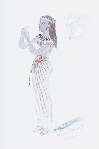 Designs For Cleopatra XXIV by Oliver Messel