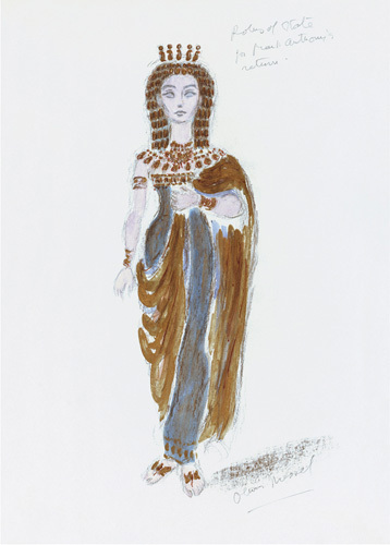 Designs For Cleopatra XXX by Oliver Messel