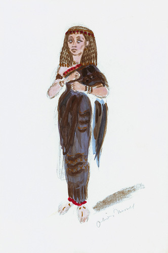 Designs For Cleopatra XXXI by Oliver Messel