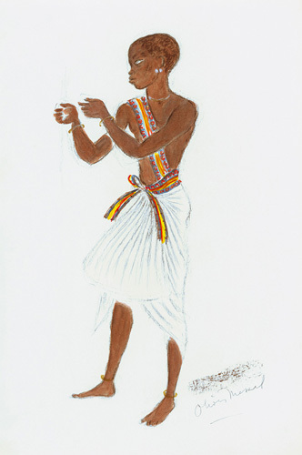Designs For Cleopatra XXXVII by Oliver Messel