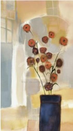 Flowers in the Archway by Nancy Ortenstone