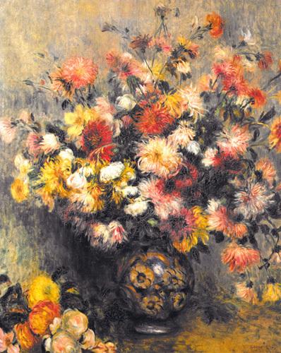 Dahlias by Pierre Auguste Renoir