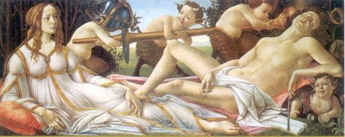 Venus and Mars, c. 1485 by Sandro Botticelli