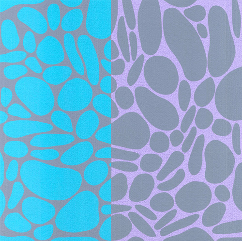 Pebble Stones (Silkscreen print) by Denise Duplock