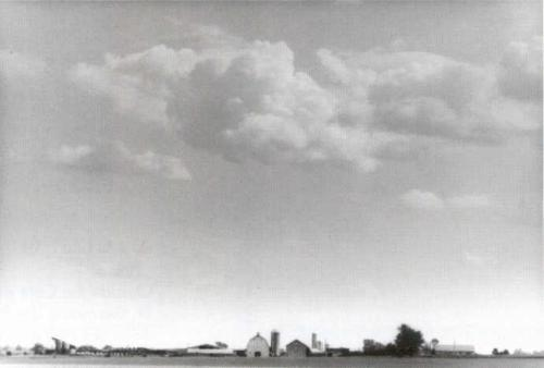 Farm and Clouds by Ron Traver
