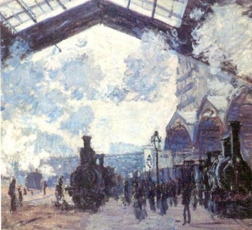 Detail from The Gare St Lazare, 1877 by Claude Monet