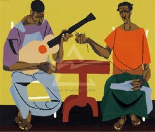 Singing and Mending by Robert Gwathmey