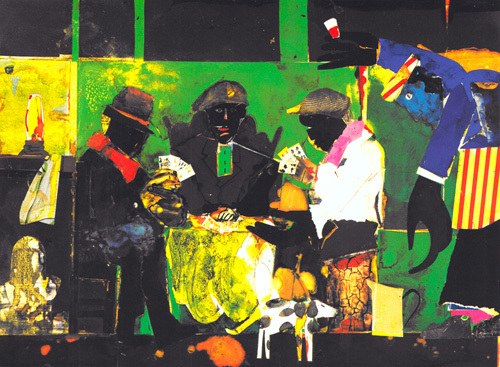 Card Players, 1982 by Romare Bearden