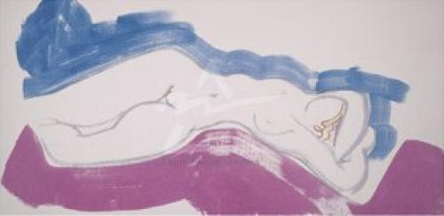 White Nude Blue (Silkscreen print) by Ivon Hitchens