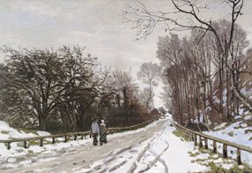 Road toward the farm, Saint-Simeon, Honfleur by Claude Monet